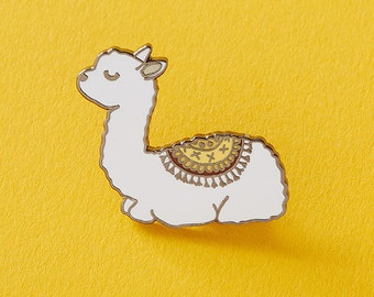 Baby Llama Enamel Pin with rubber back, cute pins, animal pins, alpaca pin