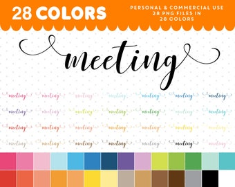 Meeting script icon, Meeting font clipart, Meeting digital clipart, Meeting planner clipart, Meeting sticker clipart, Script clipart CL-1055