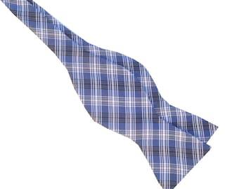 Royal Blue Plaid  Bow Tie  Colors  2588