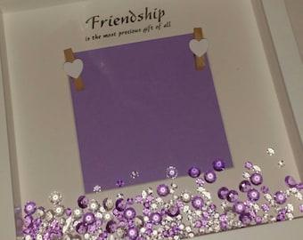 Friendship Quote Photo Frame, Best Friends, BFF, Personalised Keepsake Gift