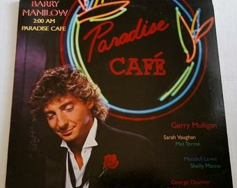 BARRY MANILOW 2:00 AM Paradise Cafe Lp Vinyl Record 1984 Nm/Vg+ w/Printed Lyric Inner Sleeve Jazz Sarah Vaughan Gerry Mulligan Mel Torme