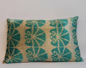 Ikat Pillow Case -  14.5'' x 22.5'' Decorative Pillows For Couch Sofa Pillows Lumbar Pillow Decorative Cushion Modern Pillow Cover