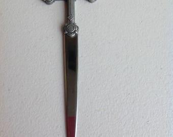 Letter Opener- Vintage. Crucifix shaped.