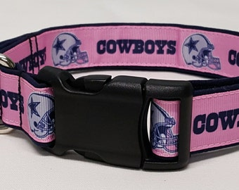 Dog collar, Pink Cowboys, Dallas Cowboys, nfl, cowboy dog collar, dallas cowboy dog collar, dallas cowboy collar, nfl dog collar, football