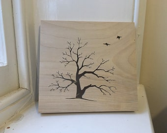 Wooden Tree Silhouette, made from Sycamore