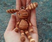 Bunny crochet amigurumi keychain plushie
