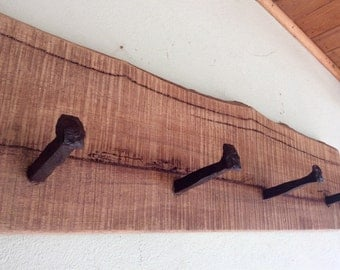 Rustic Wooden Coat Rack wall mounted Recycled Reclaimed Wood