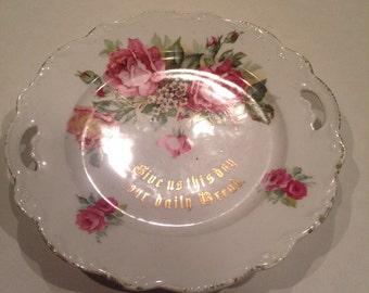 Vintage Bavarian German floral plate