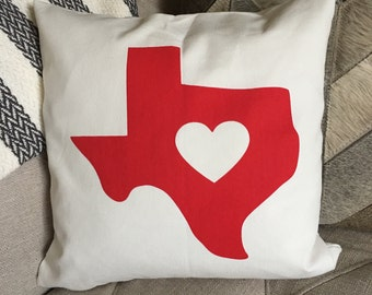 Deep in the Heart of Texas Screen Printed Pillow - Made to Order
