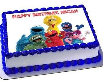 Sesame Street Cake Topper, Sesame Street Birthday, Sesame Street Edible Images,Frosting Sheet, Cake Topper, Cupcake topper