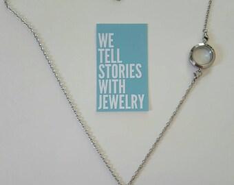 Floating Locket Set - Double Locket Necklace - Over The Heart Locket Set -  Memory Locket - Living Locket