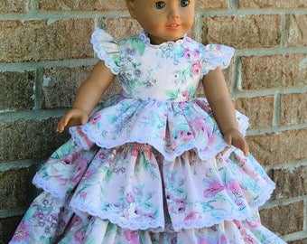 18 Inch Doll Clothes, Retro -Circa 1957, Floor Length, Formal Ball Gown or Party Dress