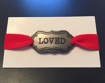 Loved Burnished Silver Bracelet