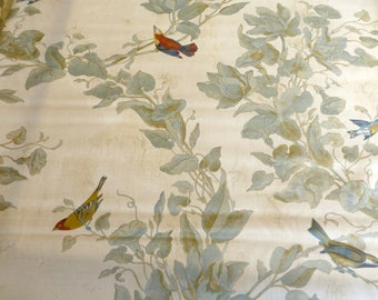 "Gorgeous Bird Toile fabric~""Reigate"" ~  54"" W~Window Treatments, Pillows, Cushions, home decor"
