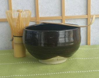Brown chawan, teabowl for Japanese tea ceremony