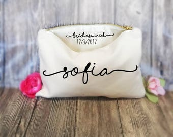 Bridesmaid Makeup Bags, Secret message,  makeup bags, cosmetic bags, personalized gift, tote bag, bridesmaid gift , Lingerie Bag