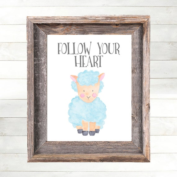 Sheep Nursery Art, Baby Sheep Print, Farm Animal Nursery, Farm Nursery Print, Country Nursery Art, Farmyard Barnyard Country Farmhouse Art