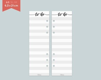 ToDo List - A5 slim - Notepaper - 25 Sheets