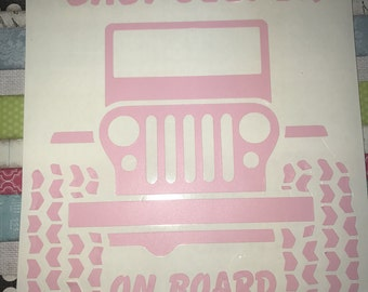 Baby jeeper on board  decal