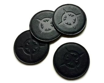 Genuine Leather Coaster - Set of 4 (Black)