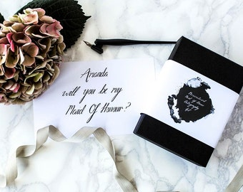Personalised Maid of Honour Calligraphy Set