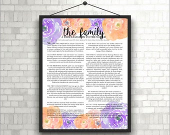 The Family Proclamation; Peach & Purple