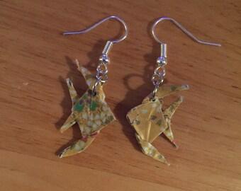 Origami Angelfish Earrings