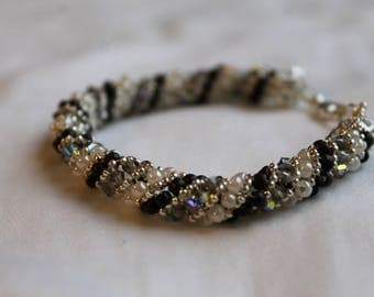 Russian Spiral Bracelet with Crystals