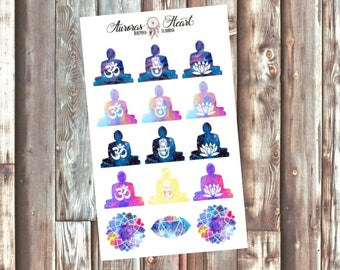 Buddha Sitting Galaxy Spiritual planner stickers