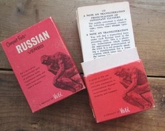 Russians Verbs Compact Facts Vintage Language Learning Aids by Vis Ed