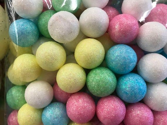 pastel glitter foam balls vase fillers decorative balls foam balls glitter balls party supplies pink glitter balls from on etsy studio