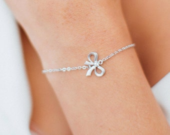 Bow Bridesmaids Bracelets, Tie the Knot, Bridesmaid Gifts, Rose Gold Bow, Knot Bracelet,Charm Bracelet, Bridal jewelry, Bridal Bracelet