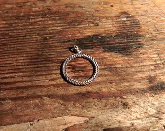 Pendant Sterling silver braided
