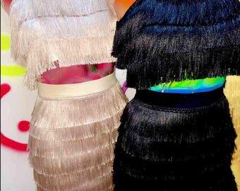 Latin Fringe Dress - CUSTOM-MADE