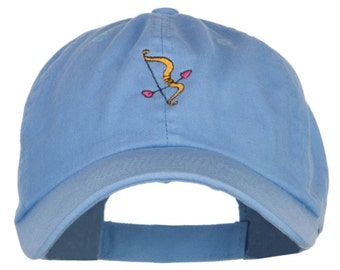 Cupid Bow Arrow Embroidered Low Cap