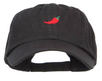 Chili Pepper Embroidered Low Cap