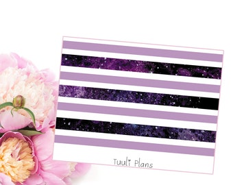 Planner stickers: washi strips - space (not ec size) | Perfect for your filofax / erin condren planner etc