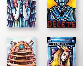 Doctor Who Mini Prints / Postcard Set