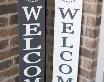 Welcome Sign - Front Porch Sign - Last Name Front Porch Sign - Porch Sign - Sign for front porch - Custom Wood Sign
