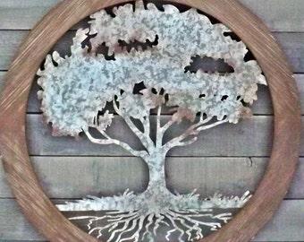 Tree of Life Wall Decor, Tree Of Life Wall Art,Rustic Wall Decor,Metal and  Wood Tree of Life , Tree Decor,Tree of Life,Choice Color,