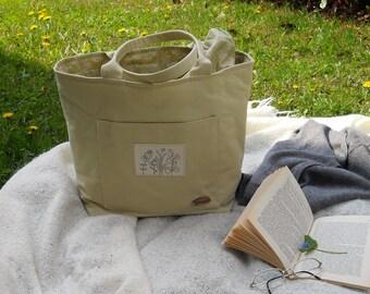 """Cotton canvas bag """"Sorbet"""" pistachio Green"""