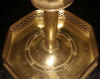 Regency Period Brass Pierced Gallery Octagonal Chamberstick. c1810