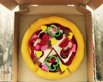 pizza felt play food
