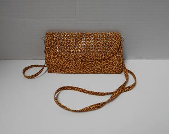 Wallet, Cloth wallet, ladies wallet, animal print wallet, cheetah print wallet