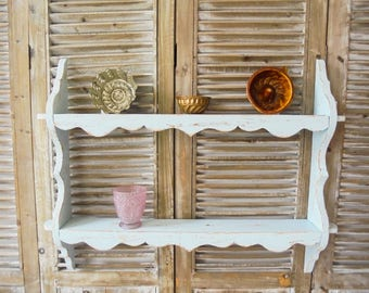 Shabby Chic kitchen shelf wall shelf vintage light blue
