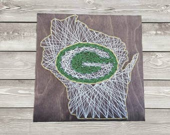 Green Bay Packers State Sign String Art