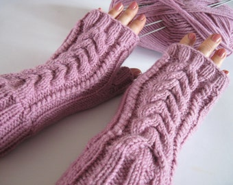 women gifts-women girls-elegant women-birthday gifts-knit mittens-ready to ship-pink gloves--fall winter-merry christmas-gift-for-girlfriend