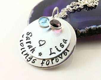 Sibling Jewelry~ Sibling Necklace~ Adoption Gift~ Step Sister Gift~ Loss of Brother~ Loss of Sister~ Family Jewelry~ Family Necklace