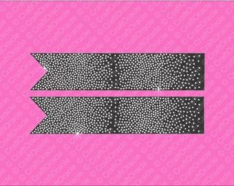 Full scatter rhinestone bow strips Jumbo size