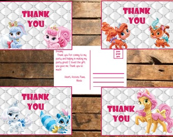 Instant Download Palace Pets Thank You Cards
